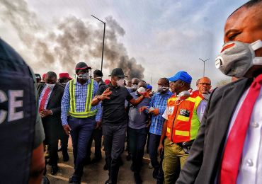 Gov Sanwoolu Visits Site Of Gas Explosion And Sets Up N2b Relief Fund